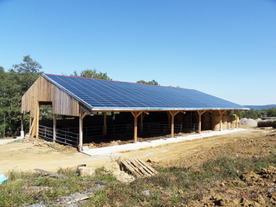 TEXSYS has equipped a photovoltaic roof of a barn with its Actem SCADA